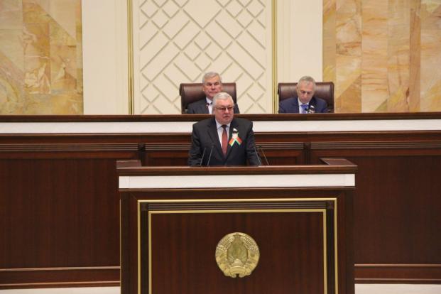 Выступление на сессии Палаты представителей Национального собрания Республики Беларусь