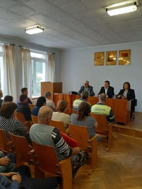 Встреча с трудовым коллективом ДРСУ-121 в г. Червене