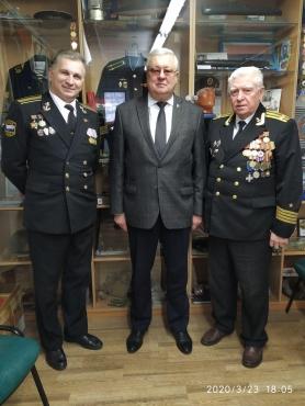 С представителями общественного объединения «Белорусский союз военных моряков»